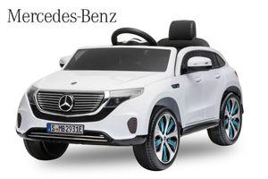 Lizenz Elektro Auto Mercedes Benz EQC 400 Weiß