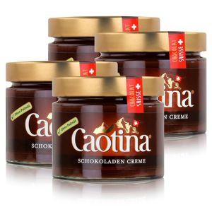 Caotina Schweizer Schokoladen Creme Brotaufstrich Creme Chocolat 300g (4er Pack)