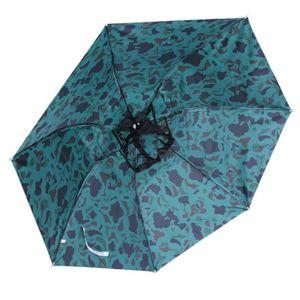 Großer Kopf Regenschirm Anti-UV-Anti-Regen Regenschirm Reise Hut Drei-Folding Umbrella -(1,)