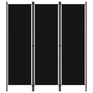 vidaXL 3-tlg. Raumteiler Schwarz 150x180 cm