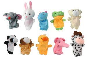 Fingerpuppen Set Tiere 10 Stück Bunt Weich Stoff Theater Fantasie Kinder Babys 5071
