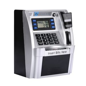 Geldautomaten Sparbš¹chsen Geldautomaten Sparschwein Simulation mit LCD-Bildschirm Silber Voice Prompt Safety Coin Banks Passwortbox