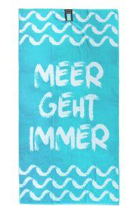jilda-tex Strandtuch Handtuch Meer Geht Immer 90x180cm
