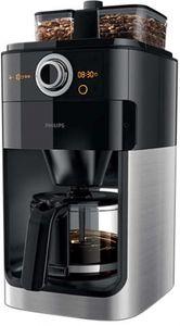 Philips HD 7769/00 Kaffeeautomat doppelter Bohnenbehälter, integriertes Mahlwerk, Timerfunktion schwarz/ Edelstahl/ Kunststoff, Farbe:Schwarz