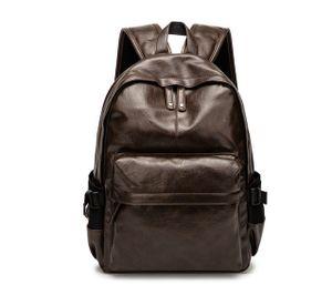Leder Rucksack Wasserabstoßend Fashion Reise Schultertasche  Backpack Laptop Beutel Tasche, Braun