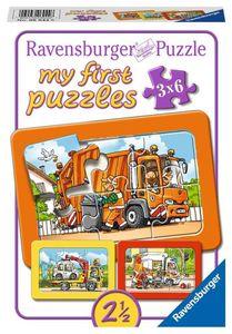 3 x 6 Teile Ravensburger Kinder Rahmen my first puzzles Müllabfuhr ... 06944