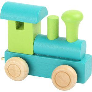 Small Foot Design 10347 'Buchstabenzug bunt' Holz Lokomotive, grün/türkis (1 Stück)