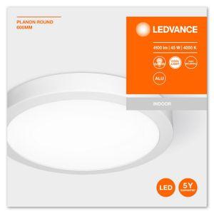 LEDVANCE PLANON ROUND LED Aufbaupaneel Kaltweiß Ø 60 cm Aluminium Weiß