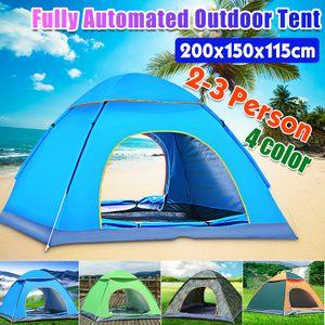 Meco Schnellaufbau Zelt Pop-Up Wurfzelt Sekundenzelt 2-3 Personen Wasserdichte Camping Tent Blau