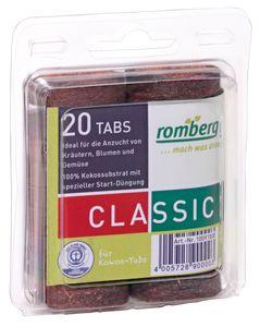 Romberg 20 Kokos-Quelltabletten Ø 36 mm, Blister