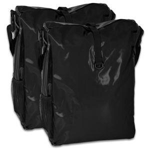 Fahrradtasche 2 Stück - (LKW-Plane) - schwarz/schwarz