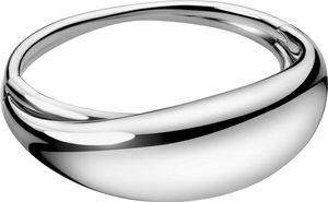 Calvin Klein Jewelry fluid KJ3XMD0001 Armreif für Damen Massiv gearbeitet, Armreifgröße:XS (54x43mm/194mm)