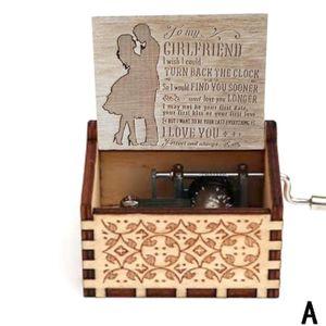 Antike Geschnitzte Hand Gekr?pft Holz Musik Box