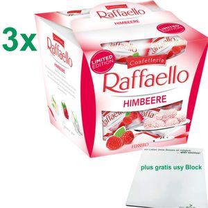 Ferrero Raffaello Himbeere limited Edition 3er Pack (3x150g Box) plus usy Block