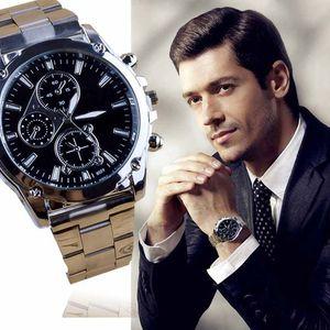 Luxus Herren Business Sport Edelstahl Quarz Analog Armbanduhr Weihnachtsgeschenk