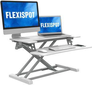 Flexispot Sitz Steh Schreibtisch Stehpult Höhenverstellbarer Schreibtisch Schreibtischaufsatz
