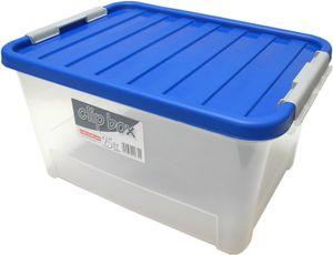 Universal Box   Aufbewahrungsbox mit blauem Deckel 25 liter