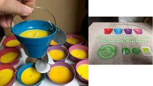 8 Stück Citronella Kerze im Henkel Topf Outdoor Anti Mücken Kerze