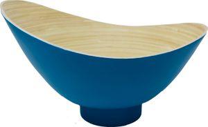 KeMar KitchenwareBambus Obstschale | Schale Petrol Blau 32 cm