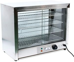 1000 W 4 Etage Elektrische Warmhaltevitrine aus Edelstahl Warmhaltetheke 30-80°C Temperatur regelbar