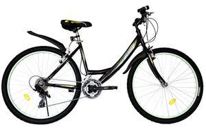 26 ZOLL Kinder Mädchen Damen Fahrrad Mädchenfahrrad Mädchenrad Mountainbike MTB Bike Rad BELEUCHTUNG 21 GANG 4100 Schwarz Türkis