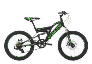 Kinder-Mountainbike 20 Zoll  Fully Xtraxx (schwarz-grün)