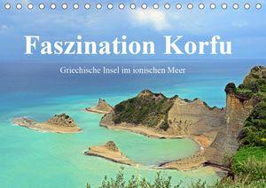 Calvendo Wandkalender Faszination Korfu (Tischkalender 2021 DIN A5 quer) 2021 DIN A5