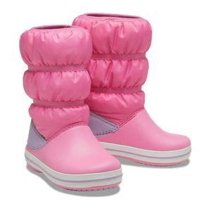 Crocs Crocband Winter Boot Stiefel Pink - Mädchen, Größe:30-31
