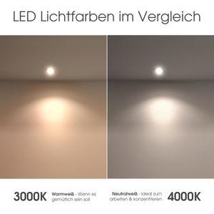 Schwenkbarer LED Bodeneinbaustrahler JUAVI rund IP67 inkl. LED GU10 3W warmweiß 230V, Stückzahl:1er Set