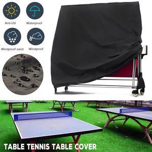 Tischtennis Tische Schutzhülle Abdeckung Abdeckhaube Plane Protection Cover für Tischtennisplatte Schwarz 185*165*70 cm