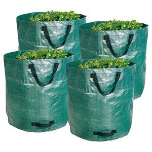 Gartenabfallsack stabil Gartensack faltbar 272 Liter 4 Stück