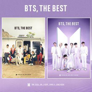 """2-er Kpop BTS Selbstklebende Postkarte Poster, """"BTS,THE BEST"""" Karten Cards 21*30cm"""