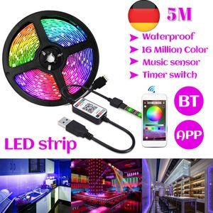 5M RGB LED Stripe 5050 SMD Leiste Streifen bluetooth APP Lichterkette Band USB