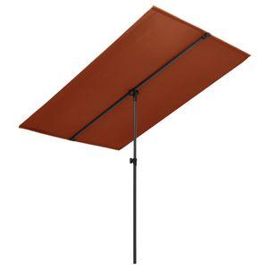vidaXL Sonnenschirm mit Aluminium-Mast 2x1,5 m Terracotta-Rot