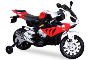 Kindermotorrad Bmw S1000rr Lizenz Kinderelektro Motorrad Kinderfahrzeug Dreirad, Farbe:Rot