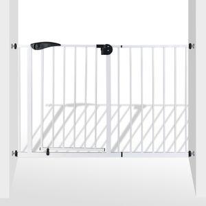 Türschutzgitter Türgitter Treppengitter BL2 aus Metall weiß 120-130 cm
