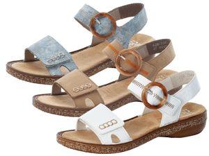 Rieker Damen Sandaletten Sandalen 628Z3, Größe:42 EU, Farbe:Blau