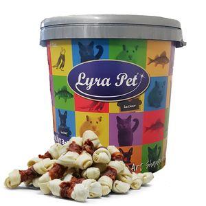 5 kg Lyra Pet® Kauknoten mit Entenbruststreifen in 30 L Tonne