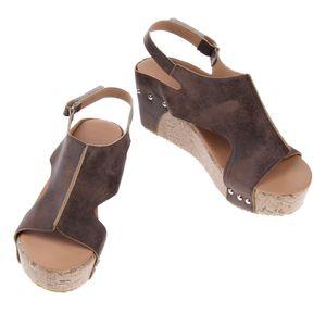 1 Stück Damen Wedge Sandale Größe 41 Farbe Braun