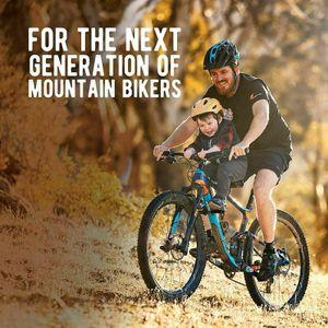 Kinderfahrradsitz für Mountainbikes   Vorneliegender Fahrradsitz für Kinder von 2-5 Jahren (bis 48 Pfund)    Für alle MTBs   Einfache Installation