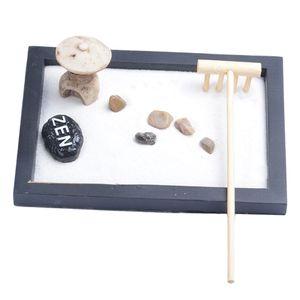 Deko Zen Garten Sand Set , Mini Turm Stein Kiesel Rake , Haus Tisch Dekoration EIN wie beschrieben