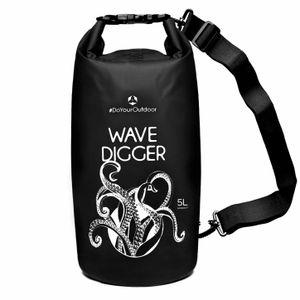 DryBag (wasserdichter Seesack / Tasche) Krake 5L schwarz