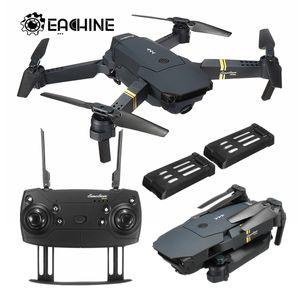 Eachine E58 WIFI FPV 2MP Selfie RC Drohne Quadcopter Faltbarer Arm Geschenk + 2 Batterien