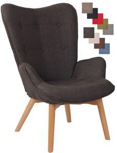 CLP Lounger Durham Stoff mit Buchenholz Gestell, Farbe:dunkelgrau