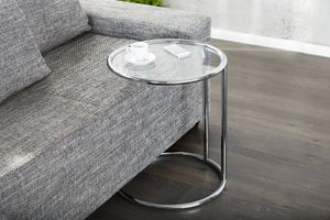 INVICTA Tisch ART DECO Chrom - Metall, Glas