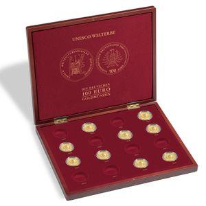 Leuchtturm Münzkassette VOLTERRA für UNESCO Welterbe Goldmünzen Holz Sammelbox