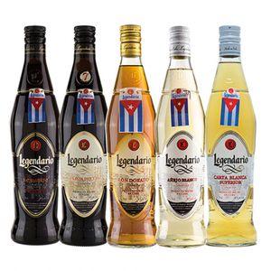 Rum LEGENDARIO 5 Flaschen - Geschenk-Set
