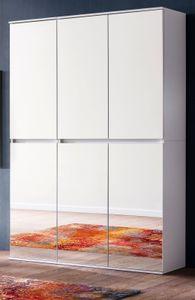 Schuhschrank weiß mit Spiegeltüren Mehrzweckschrank 111x191 cm - Trendteam Mirror 171891101