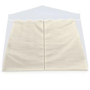 2x Seitenwände Seitenteile Pavillon Faltpavillon Capri Partyzelt Gartenzelt Zelt, Farbe:beige