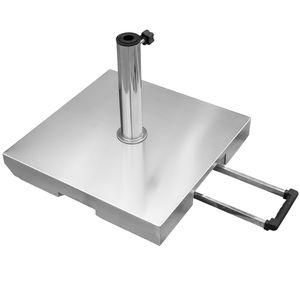 Sonnenschirmständer Edelstahl rollbar 40 kg + 5 Adapter-Ringe